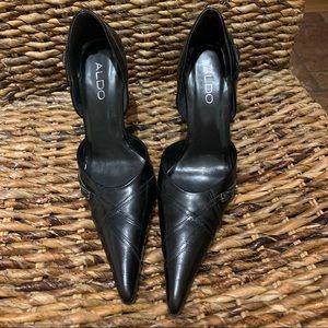 Black pointy heels